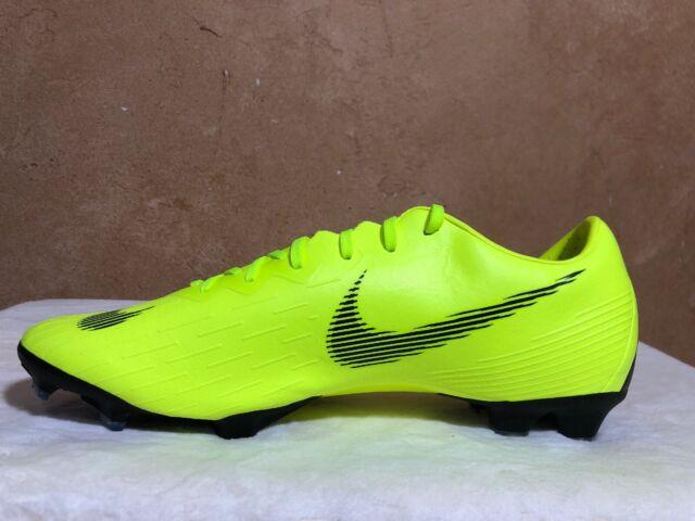 check out 9c747 1cc40 Nike Mercurial Vapor 12 Pro FG Ah7382 701 Men's Sz 9 Volt/ Black Soccer  Cleats