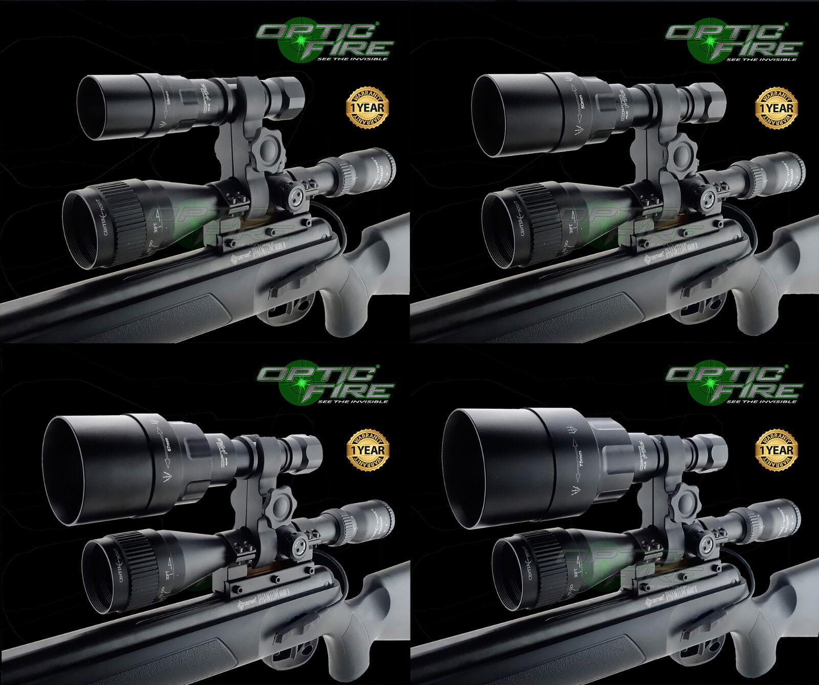 Opticfire® AG LED Scope mount gun lumière hunting lamp night vision NV IR torch