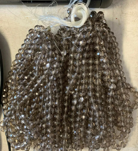 10mm Smokey Crystal Glass Beads As Pictured 5 Strands 40 Beads Str 200 Beads