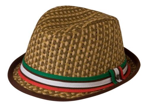 ITALIA Fedora//Borsalino cappello cotone Band Rosso Bianco /& Verde Galles//MESSICO//ITALIA