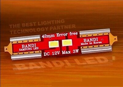 4X42mm Error-Free CANBUS White Samsung LED 2835 Car Interior Light Bulbs DC12V