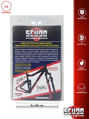 Spessore 0,8 mm 12 x 50 cm Pellicola Adesiva Scudo per Protezione Telaio Bici
