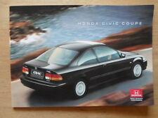 HONDA CIVIC COUPE orig 1995-96 UK Mkt Glossy Sales Brochure