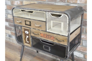 Industrial-7-Drawer-Vintage-Style-Funky-Quirky-Cabinet-Storage-Unit-Originality