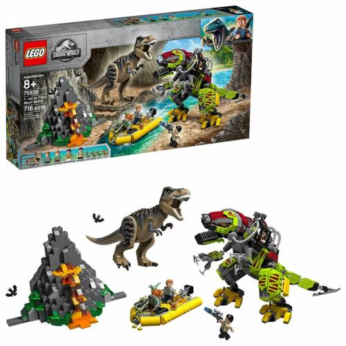 Rex Figure LEGO Jurassic World T rex vs Dino-Mech Battle 75938 Battle Toy T