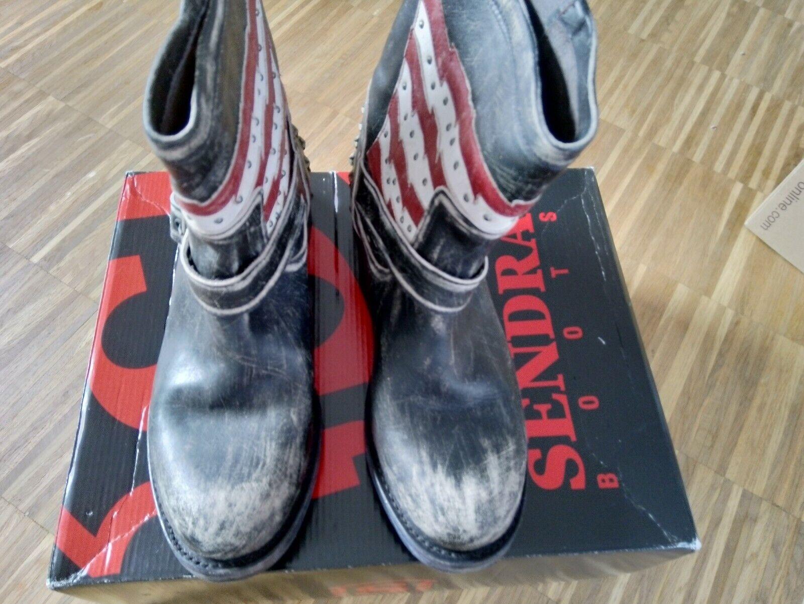 SENDRA Stiefel Leder Nieten Gr.40 41 NP  329 EUR NEU Impressionen Conleys