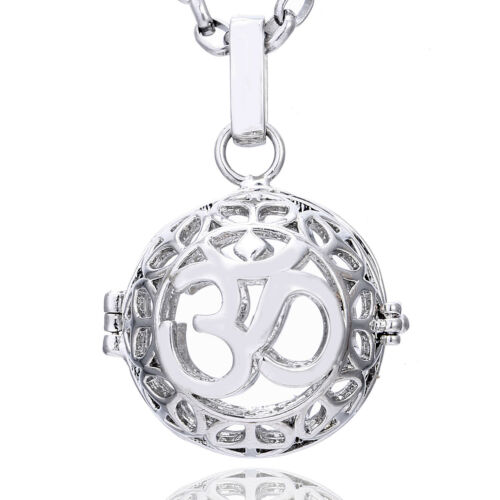 Collar cadena de Ángel sonido bala Ángel portabicis plata protección ala de ángel bala 16mm