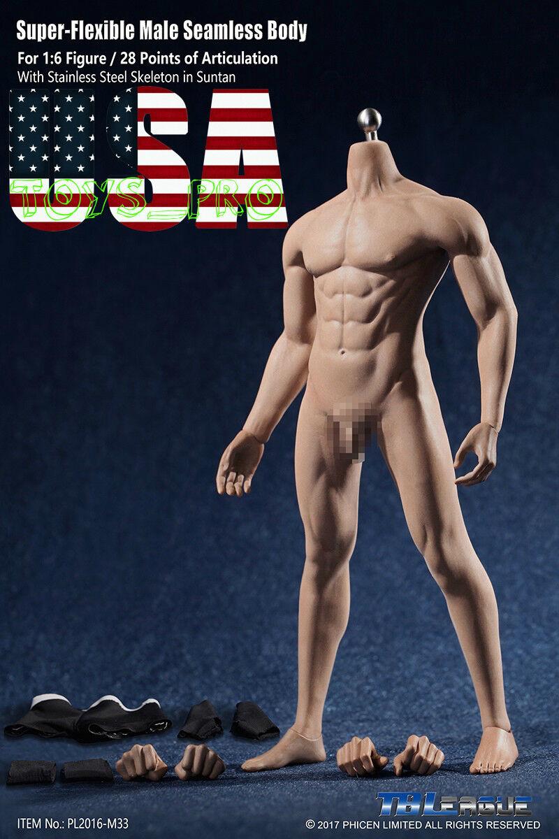 entrega rápida Phicen M33 flexible sin sin sin costuras figura muscular masculino Cuerpo Acero Esqueleto Bronceado Usa  muchas sorpresas