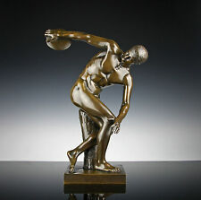 6kg Bronze Skulptur Diskobolus von Myron um 1890 40cm Diskuswerfer Olympia