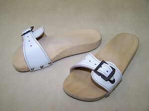 Old-GDR-Foot-Exercises-Mules-Roman-Sandals-Wooden-Shoes-with-Leather-Sz-20