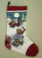Boyds Bears Enjoy The Ride Tapestry Christmas Stocking