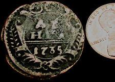 P513: 1735 Russia Copper Denga or Half Kopek