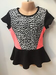 c583a311f41e FREE SPIRIT GIRLS LEOPARD PRINT DRESS TOP FOR KIDS AGE 8 10 12 14 16 ...
