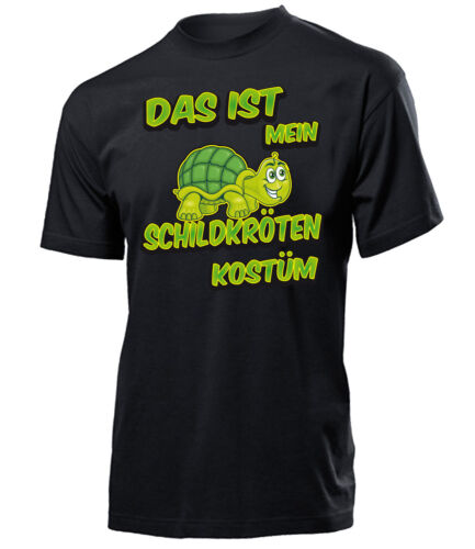 KARNEVAL FASCHING DAS IST MEIN SCHILDKRÖTEN KOSTÜM T-Shirt Herren S-XXL