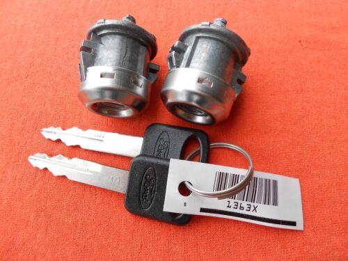 2 FORD F150 F250 F350 OEM Door Lock Cylinder Set /& 2 Ford Logo Keys 1997-2016