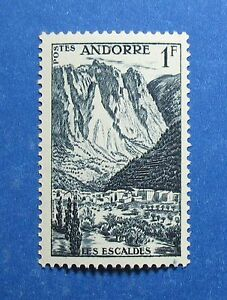 Alert 1955 Andorra French 1 Fr Scott# 124 Michel # 142 Unused Cs28098 Excellent In Quality