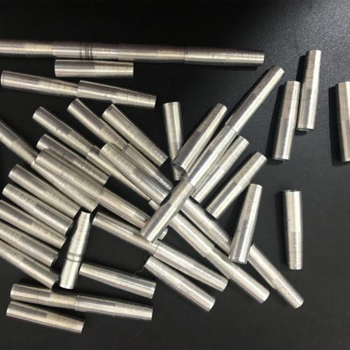 100pcs Aluminum Arrow Broadhead Insert Adapter for Carbon Aluminum Wood Arrows