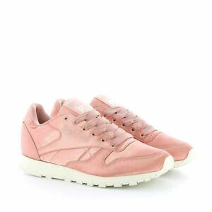 Reebok-Damen-Classic-Sneaker-Reebok-CL-Satin-Sport-Fitness-Turnschuh-pink-Groesse