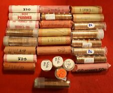 1982 D Large  DATE Zinc LINCOLN CENT ROLL PENNY  UNCIRCULATED Toning