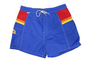 costume-da-uomo-blu-royal-Sundek-Vintage-arcobaleno-laterale-short-da-mare