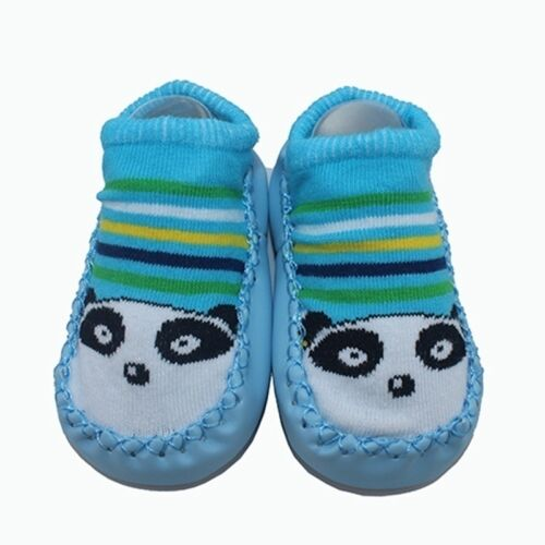 Newborn Baby Girl Boy Prewalker Anti-slip Cutton Cartoon Crib Shoes Soft Slipper