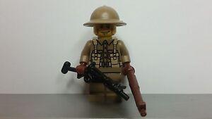 Lego-WW2-BRITISH-Soldier-MINIFIG-PRINTED-High-Quality-NEW-World-War-II