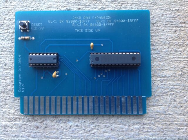 *NEW* TESTED COMMODORE VIC-20 VIC20 24KB RAM EXPANSION CARTRIDGE + RESET BUTTON