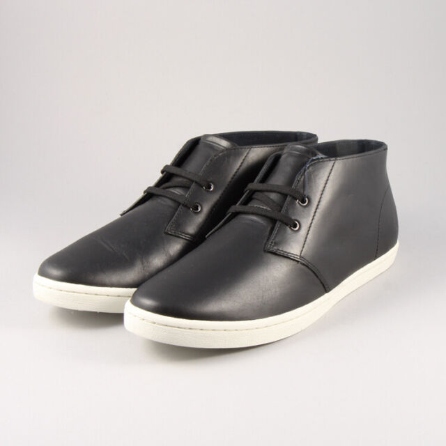 Fred Perry Shields Charcoal Grey Suede