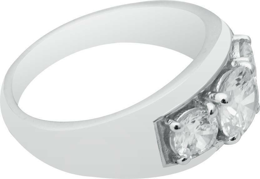 Ring White gold Diamond Engagement 14k Cut Round 0.60 Ct Wedding Halo Certifie
