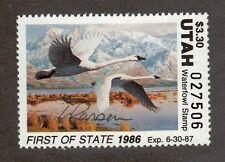 UT1 - Utah First Of State Duck Stamp. Artist Signed. MNH. OG. #02 UT1AS