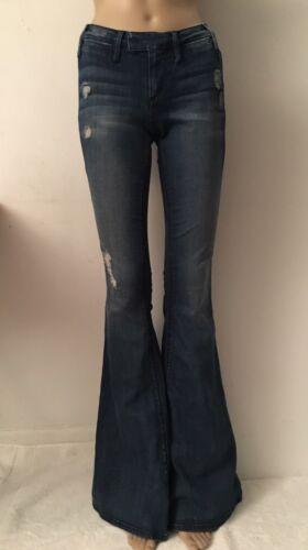 24 225 lunghi Flare Black Nwt Jeans Blue Orchid Pantaloni California Jeans Sz 4FzqwaOZq