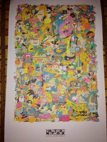 CARTOON NETWORK 20TH BIRTHDAY sdcc 2012 Exclusive Poster by CONNOR DEL RIO