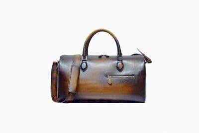 Jour Off hand patina airsilk 38 leather duffle 50 weekender travel carry on bag