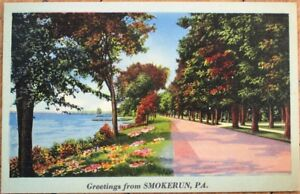 Smokerun-PA-1945-Linen-Postcard-Rural-View-Pennsylvania-Penn
