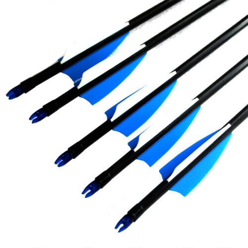 Spine500 Target Practice Steel Point  Fiberglass Arrows Archery Hunting//Shooting