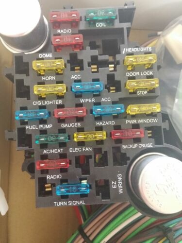 EZ Wiring 21 Circuit Color Wiring Harness Kit Chevy Ford Hotrods. Mopar