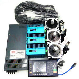 4-5NM-3Axis-Closed-Loop-Stepper-Motor-Nema34-Drive-amp-1000W-Power-Supply-amp-Controller