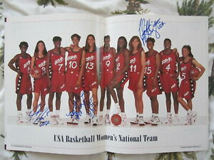 1996-US-Olympic-Womens-Basketball-Team-autographed-photo-Azzi-Lobo-McCray-McGhee