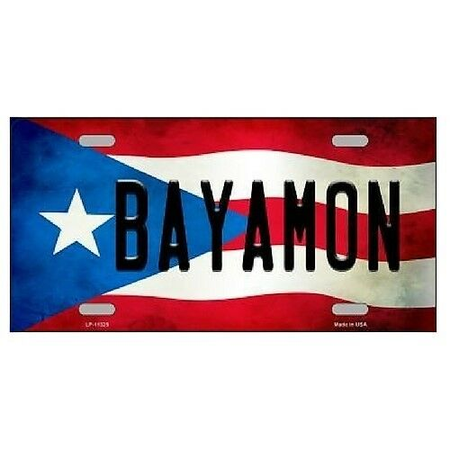 "Bayamon Puerto Rico Flag Background Novelty License Plate 6/"" x 12/"""