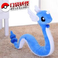 "27"" Pokemon Dragonair Hakuryu Plush GO Doll Toy Monsters Stuffed Soft Kids"