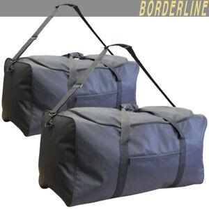 Large Folding Wheeled Travel Suitcase Holdall Duffle Foldable Cargo Luggage Bag