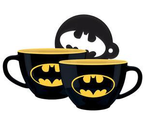 Boxed-Mug-Ceramic-Gift-Box-Batman-Cappuccino-Mug-amp-Stencil-SCMG25597