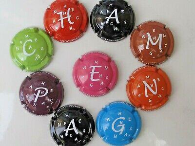 Série de 9  capsules  CHAMPAGNE  générique PUZZLE lettres champagne n°799 à 799h