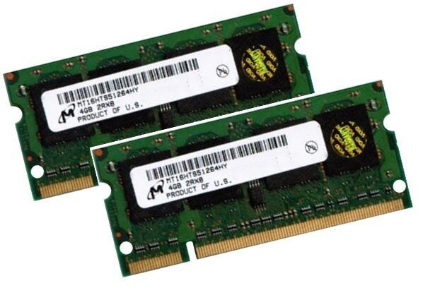 2x 4GB 8GB Notebook RAM DDR2 800 Mhz SO-Dimm PC2-6400S 200 pin Speicher Laptop