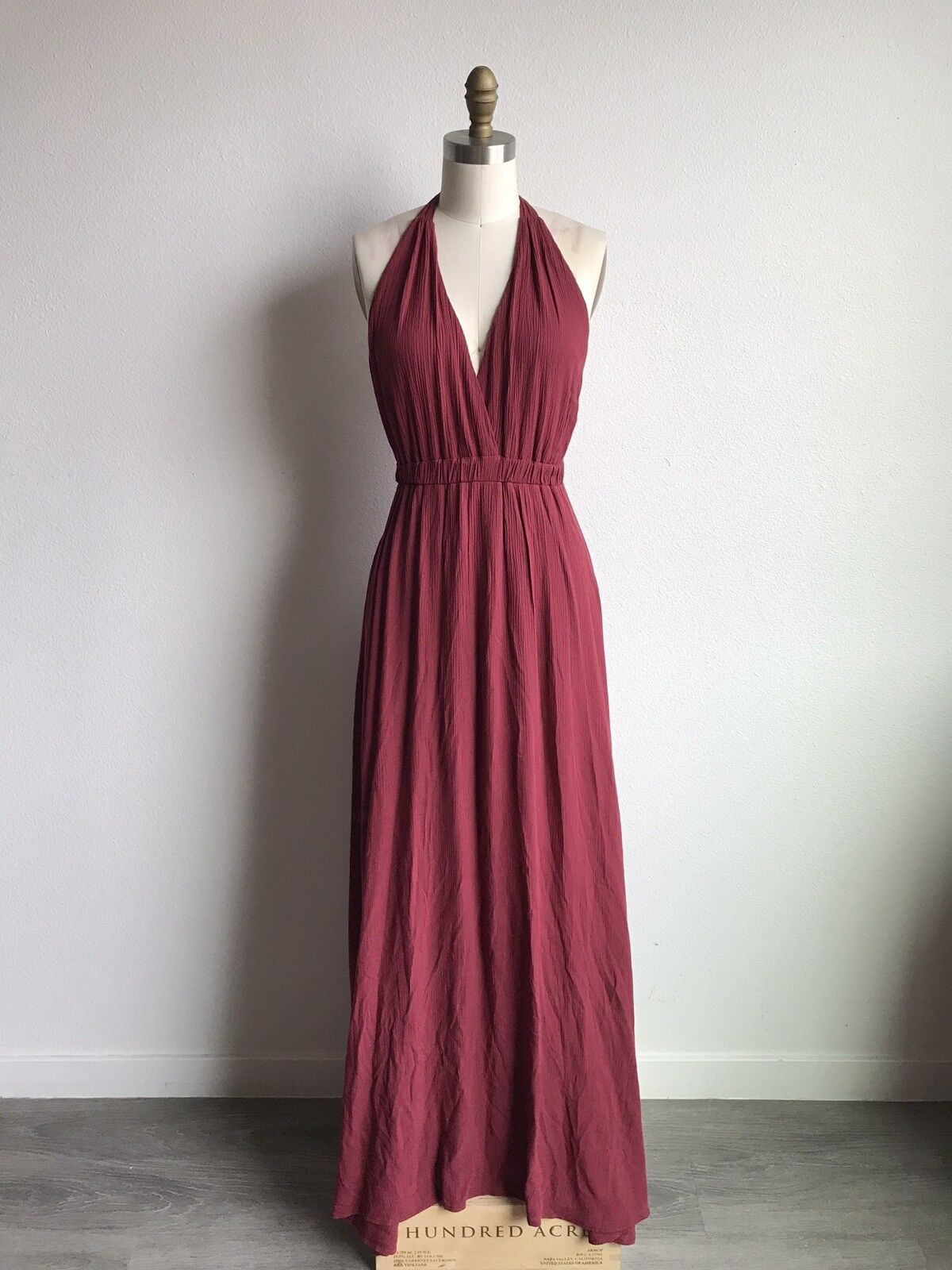 Fore Fore Fore Collection Halter Maxi Dress Sz Medium Made In USA Perfect for holidays   3c88b5