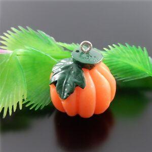 10pcs-Resin-Pumpkin-Pendants-Jewellery-Crafts-Accessories-26x23x21mm-51572