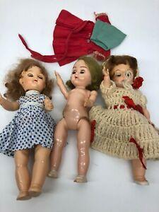 Lot-of-3-Vintage-Ginger-Dolls