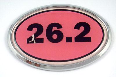 13.1 Half Marathon Runner Emblem Chrome Decal with dome sticker medallion