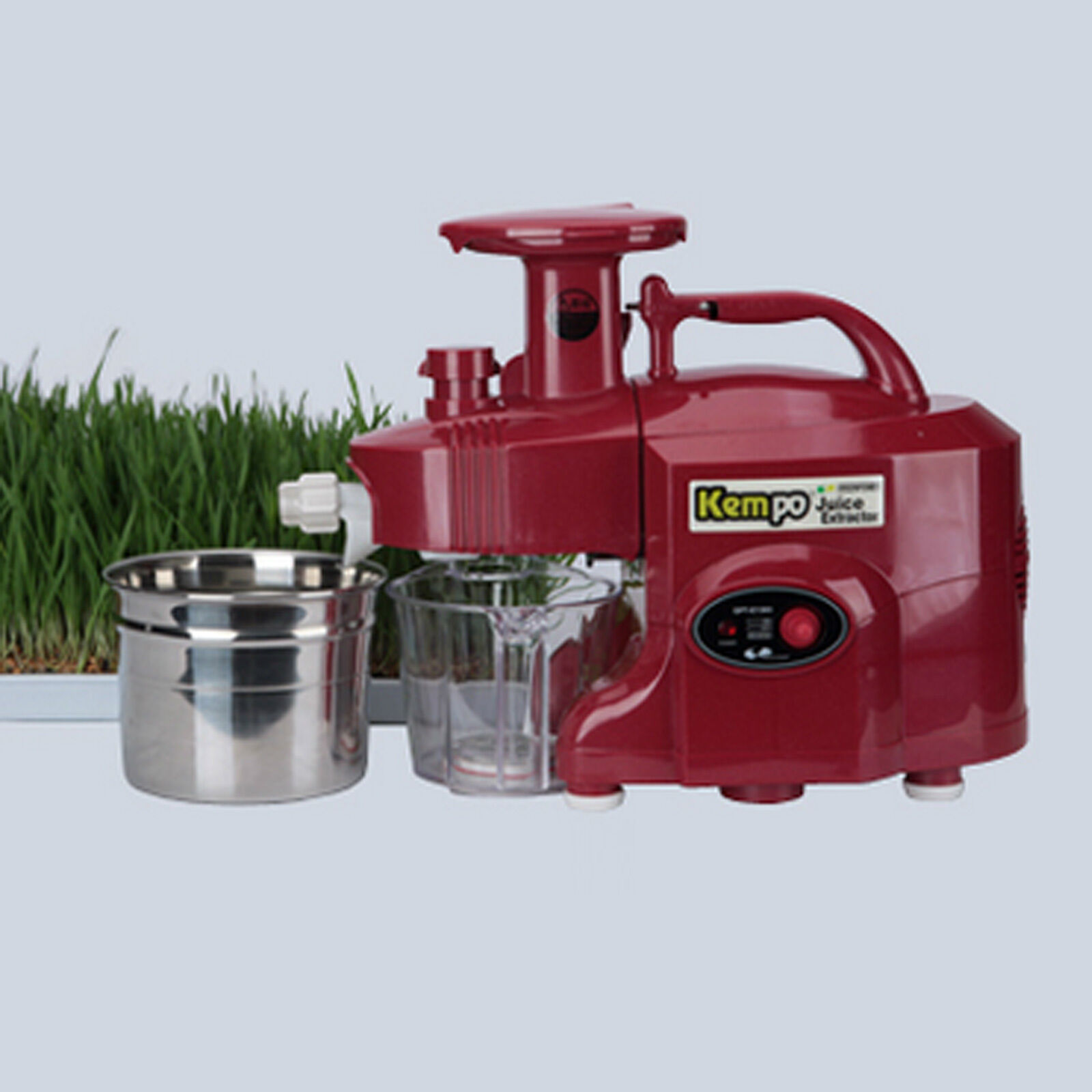 Nouveau vert POWER KEMPO GPT-E1303S standard-Type Twin Gear Juicer-Rouge