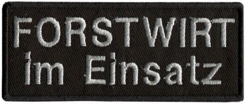 Aufnaeher Patches Sticker Applikation 9,5 x 4 cm Forstwirt im Einsatz 01003